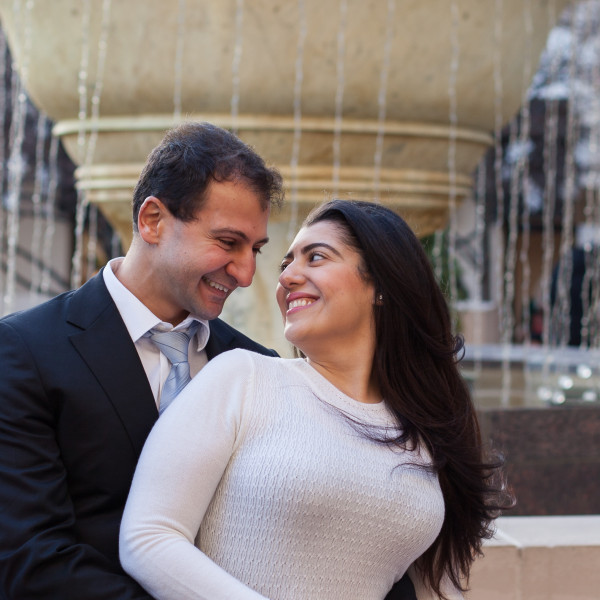 Emelda & Mina Engagement Session: Reston Town Center
