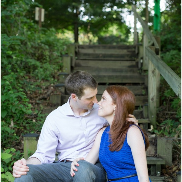 Erica and Patrick: Savage Mill Engagement Session