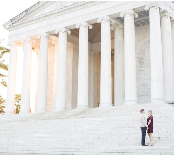 Kaitlyn and Mike | Georgetown and Jefferson Memorial Engagement Session