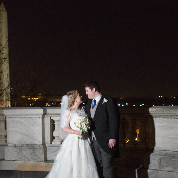 Jacqueline and Henry | Daughters of the American Revolution Wedding | Christmas Wedding in D.C.