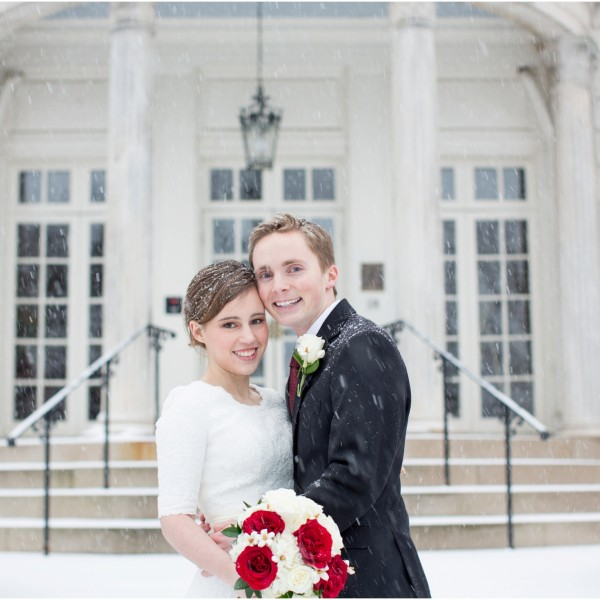 Jenna and Nate's Winter Storm Jonas Wedding: Strathmore Mansion