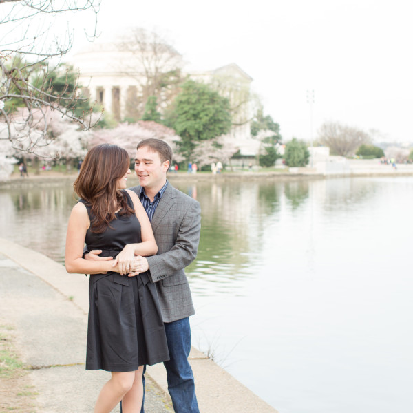Tessa and Tom | Cherry Blossom Engagement Session Tidal Basin | Washington D.C. Wedding Photographer
