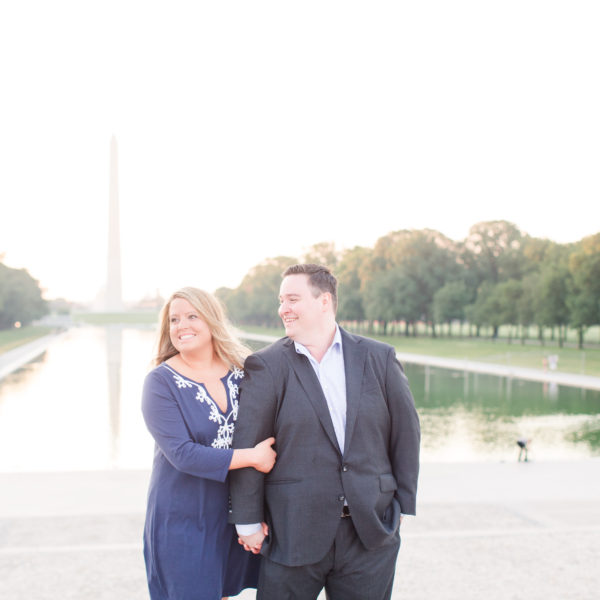 Molly and Jason | Sunrise Lincoln Memorial Engagement Session | Washington D.C. Wedding Photographer