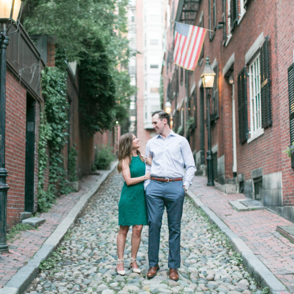 Maryellen + Chris | Boston Public Gardens Engagement Shoot | Boston Wedding Photographer